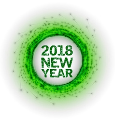 New Year as abstract fireworks vector image vector image