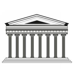 Roman Greek Pantheon temple vector image vector image
