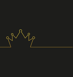 royal and king crown line style vector image