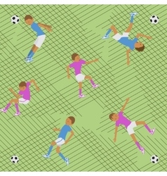 Seamless pattern soccer match vector