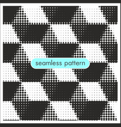 seamless patterns with halftone dots 20 vector image