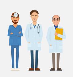 Set of doctors characters vector