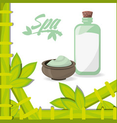 Spa products to health care skin vector