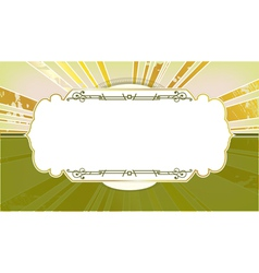 style frame with the rays in the background vector image