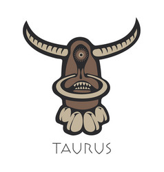 Taurus astrological sign of zodiac vector