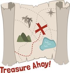 Treasure Ahoy vector image vector image