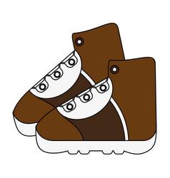 Trekking boots icon image vector