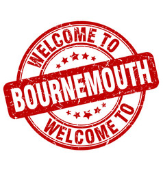 welcome to bournemouth vector image