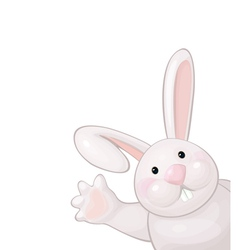 Funny rabbit vector