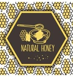Natural honey banners bio hand drawn set vector