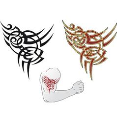 Maori tattoo design vector image