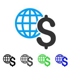 Global economics flat icon vector