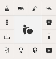 Set of 13 editable care icons includes symbols vector