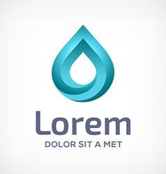 Water drop symbol logo design template icon vector