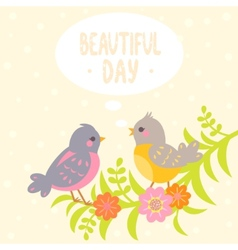 birds flat vector image