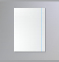 Sheet of lined paper vector
