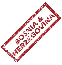 New bosnia and herzegovina rubber stamp vector