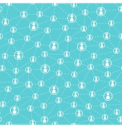 Connected people and social network pattern vector