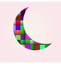 Abstract bright moon on a white background vector