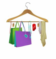 Fashion clothes hanger vector