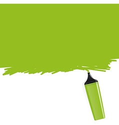 Green highlighter filling the frame vector