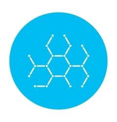 Molecule line icon vector
