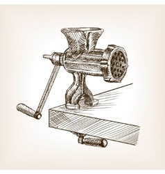 Meat grinder sketch style vector