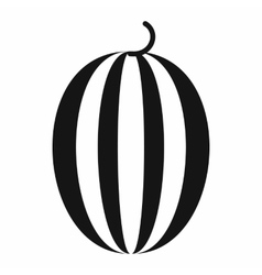 Striped melon icon simple style vector