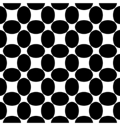 Oval black seamless pattern vector
