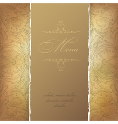 Aged menu template vector