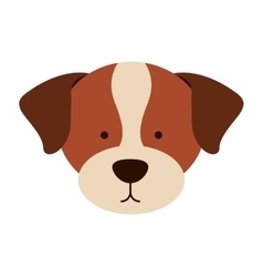 Cute dog head isolated icon design vector