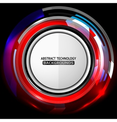 Abstract technology red background vector