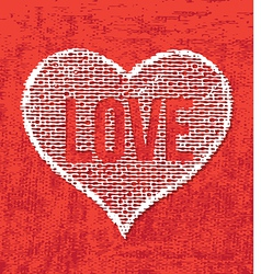 Art heart drawing on canvas vector