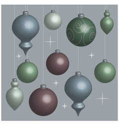 Background christmas balls soft vector