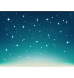 Background with night stars vector