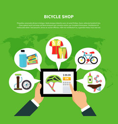bicycle shop concept vector image vector image