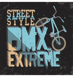 Bmx riding typography vector