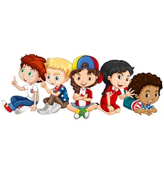 Children from many countries vector