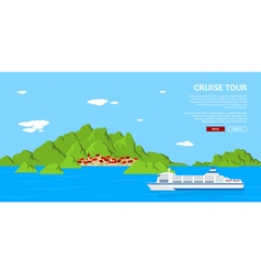 cruise tour vector image