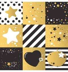 Cute different backgrounds set patterns vector image