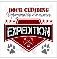 Expedition mountain climbing climber vector