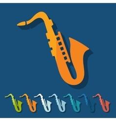 Flat design saxophone vector