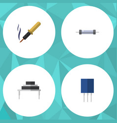 Flat icon appliance set of destination resistor vector