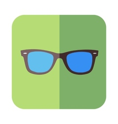 Glasses in flat design vector image