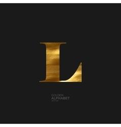 Golden letter L vector image vector image
