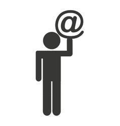 human figure silhouette social marketing vector image vector image