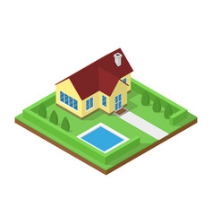icometric house icon vector image