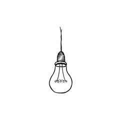 lamp bulb isolated over white background light vector image