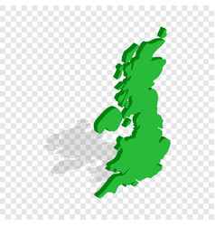 Map of great britain isometric icon vector