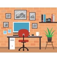 Modern photographer room vector